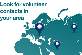 Look for volunteer contacts iun your area